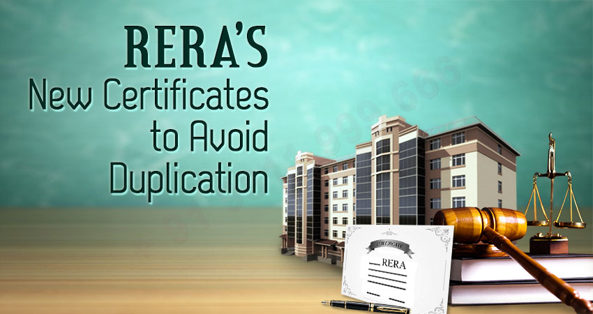 New RERA Certificate to Avoid Duplication