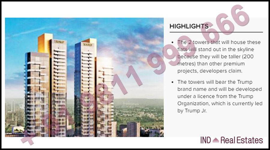 Trump Towers Gurgaon Launched with 258 Flats