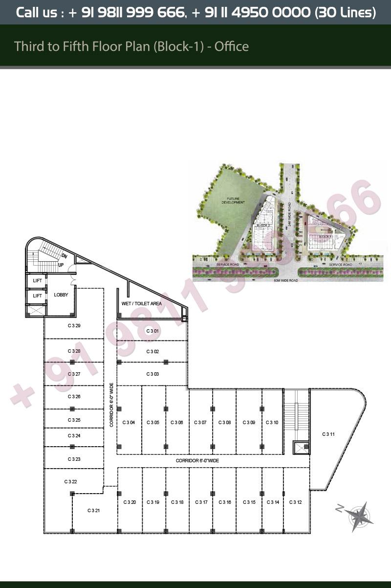 Third to Fifth Floor Plan