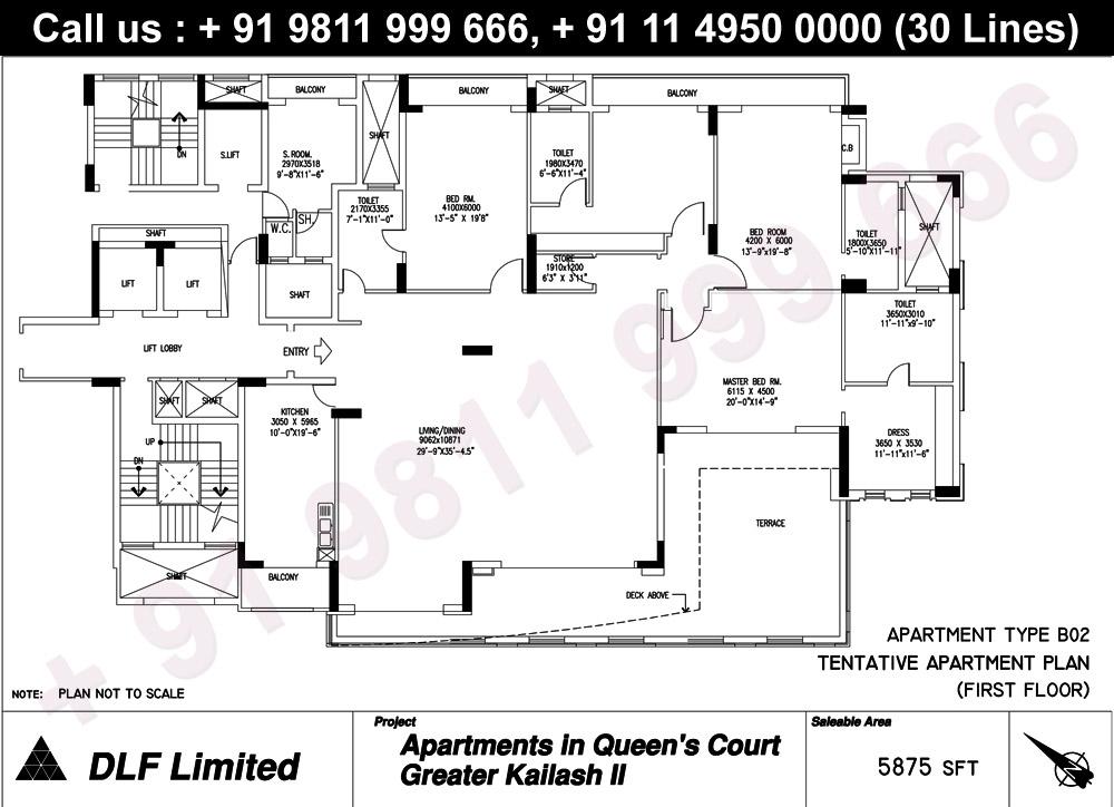 Apartment Type B02 (1st Floor) : 5875 Sq.Ft.