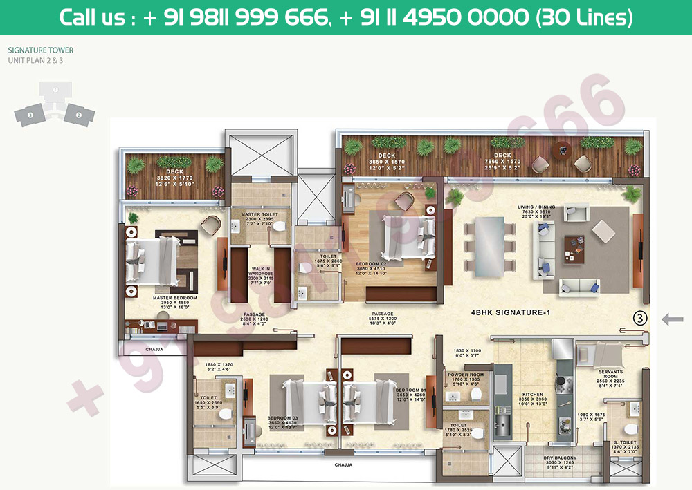 4 BHK Signature 1 Tower 1