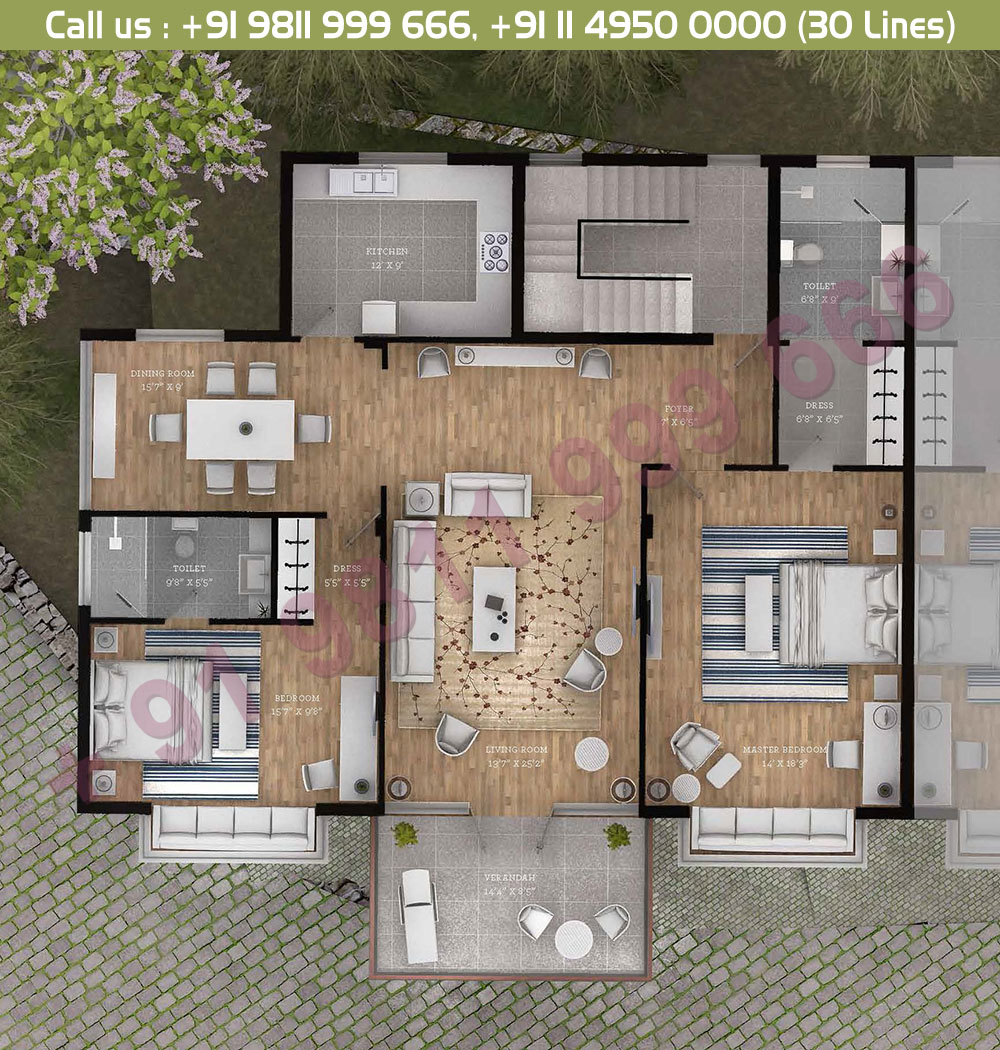 Typical Floor Plan : 1700 Sq.Ft.