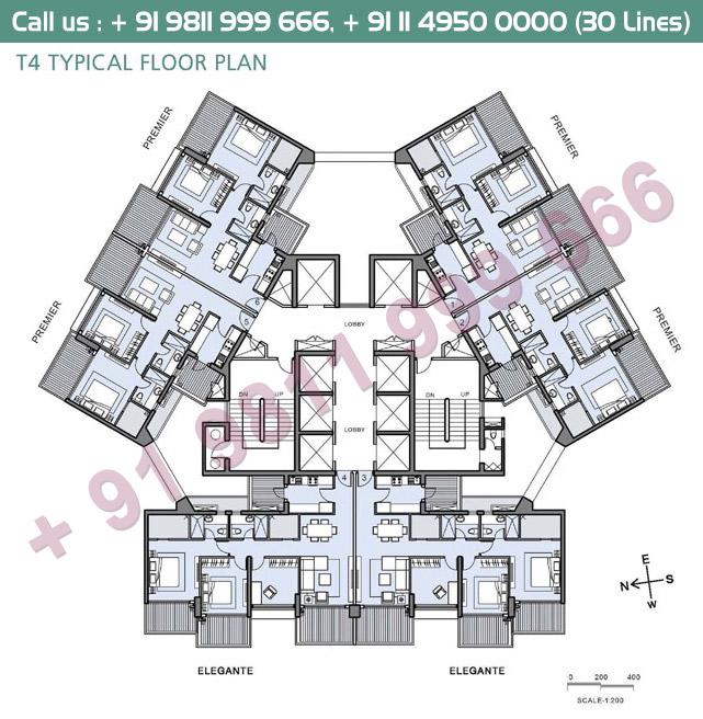 T4 Typical Floor Plan