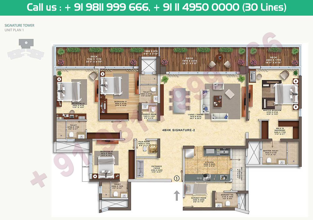 4 BHK Signature 2 Tower 2