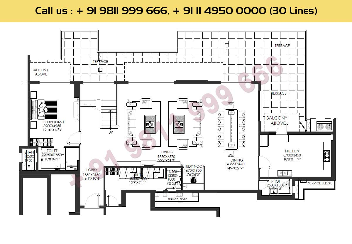 Lower Level Layout : 6137 Sq. Ft