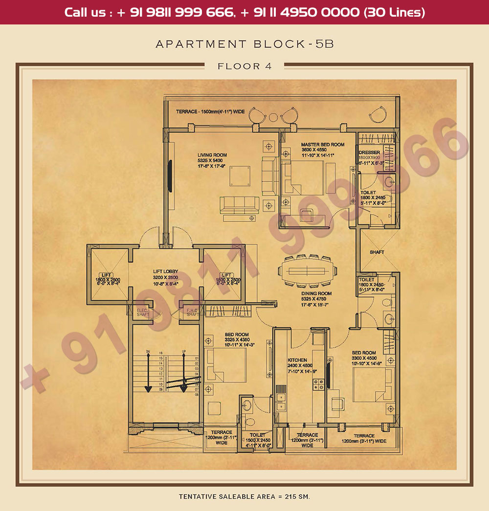 Fourth Floor Plan : 2315 Sq.Ft.