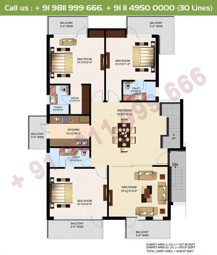 Executive 4 Duplex Lower Floor Plan