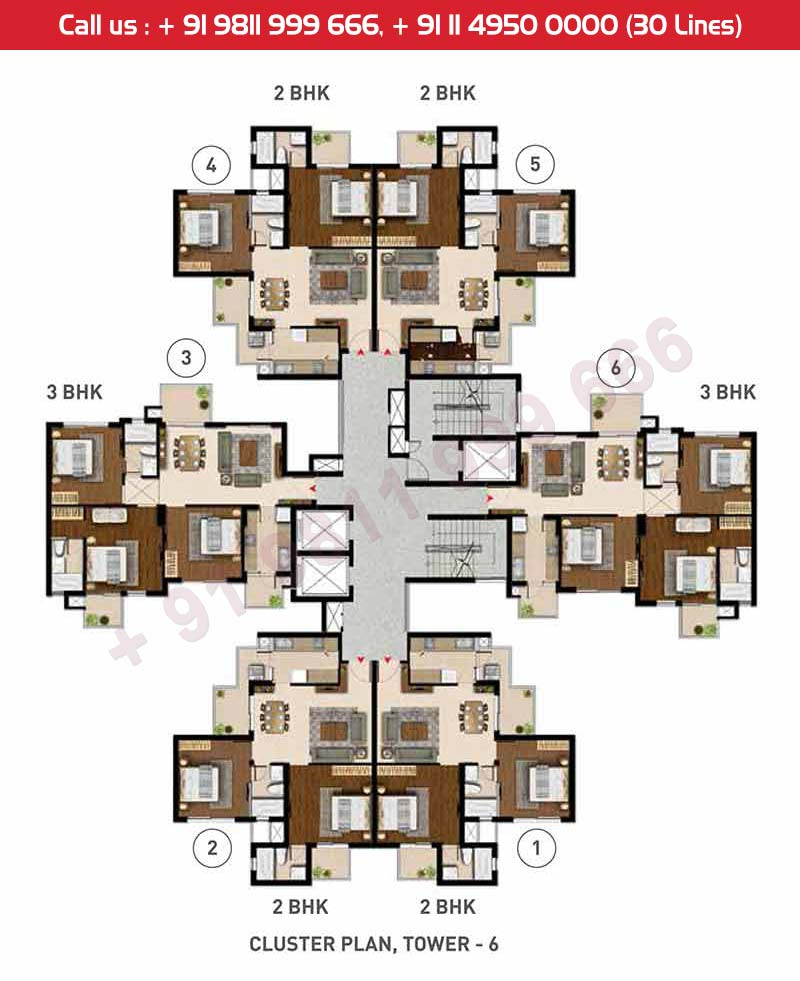 Cluster Plan Tower : 6