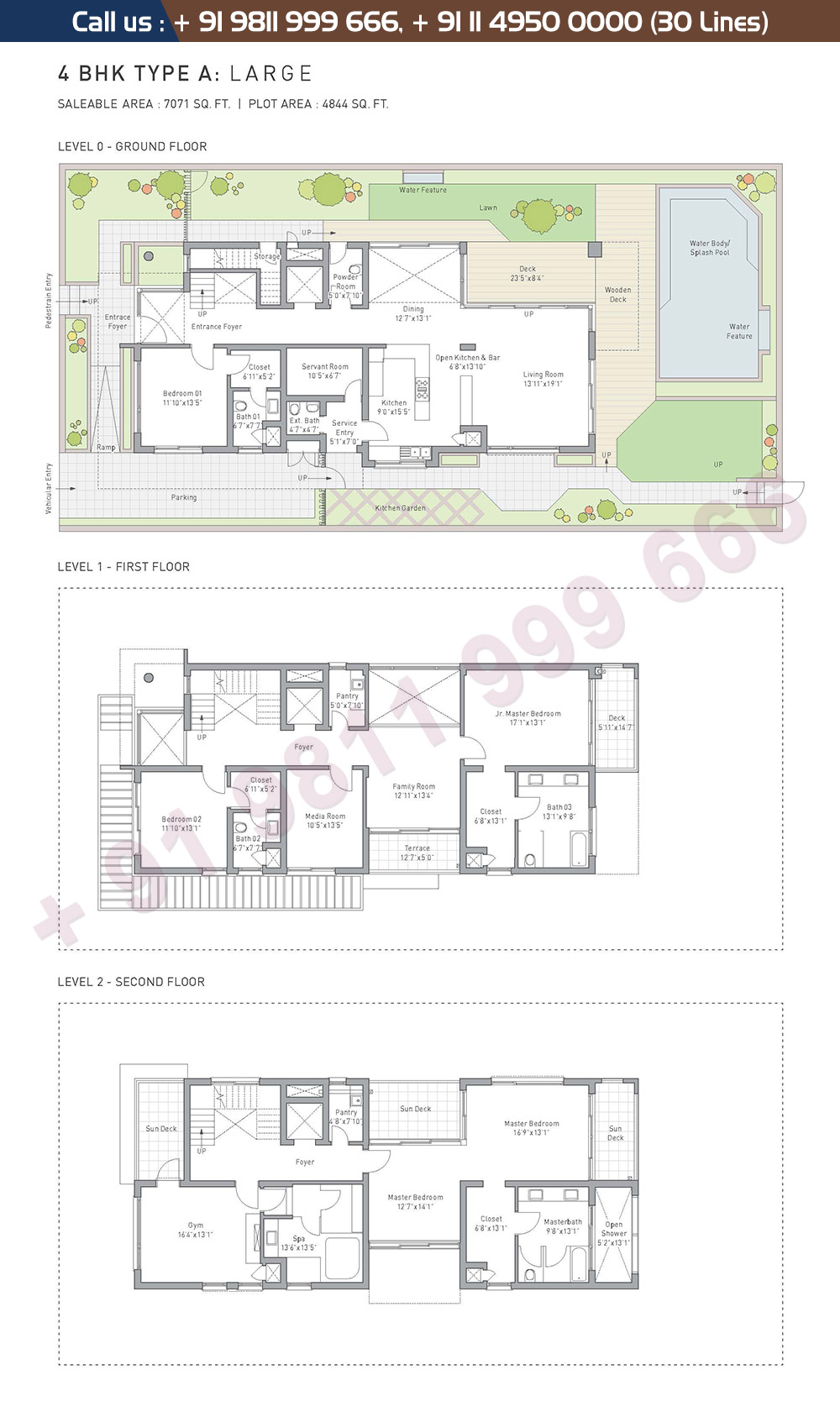 4 BHK Type A Large: 7071 Sq.Ft.