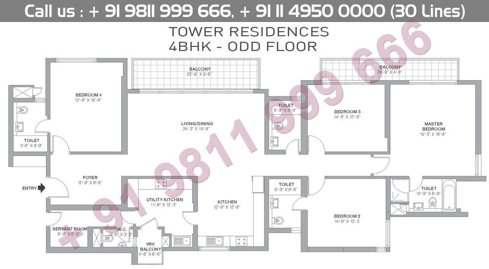 4 BHK Odd Floors