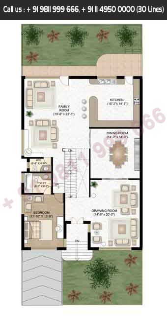 Ground Floor, Servant, Saleable Area: 6063.04 + 1039.69 Terrace