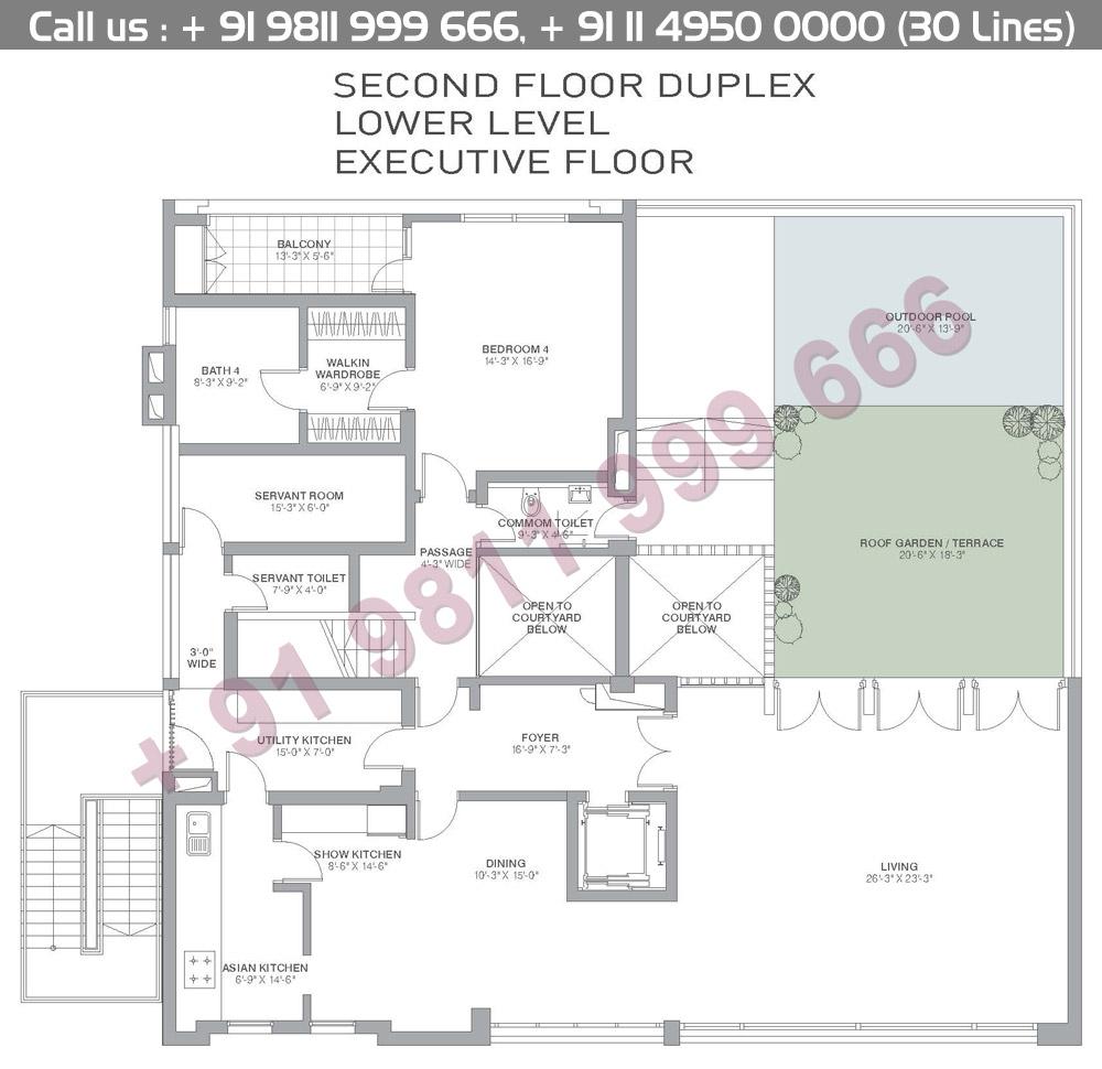 Second Floor Duplex Lower Level