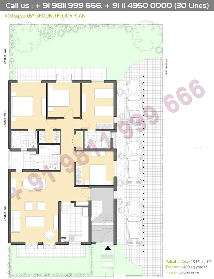 Ground Floor Plan : 1915 Sq.Ft.