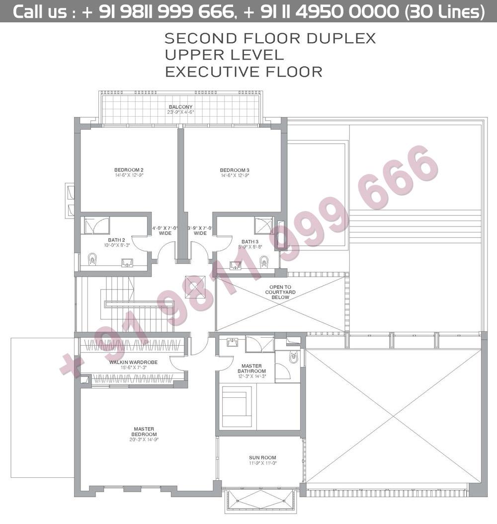 Second Floor Duplex Upper Level