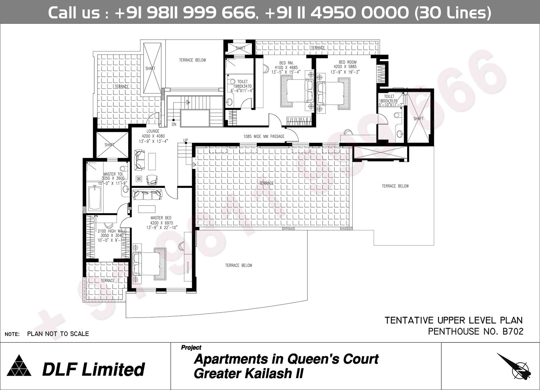 B 207 Upper Level Plan : 8508 Sq.Ft.