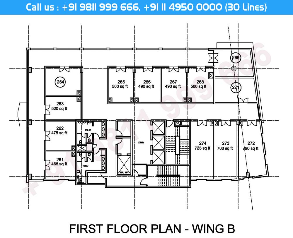 First Floor Plan Wing - B