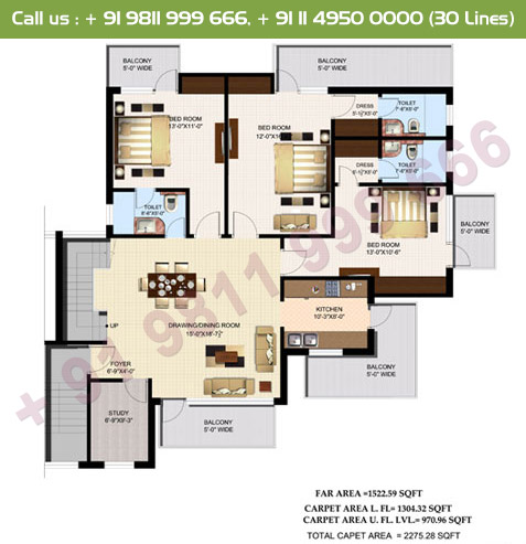 Executive 5 Duplex Lower Floor Plan