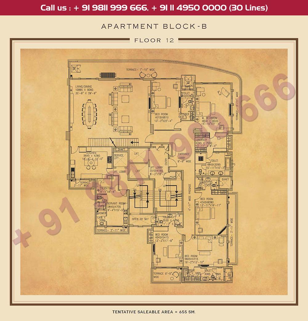 Twelfth Floor Plan : 7050 Sq.Ft.