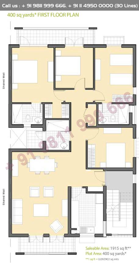 First Floor Plan : 1915 Sq.Ft.