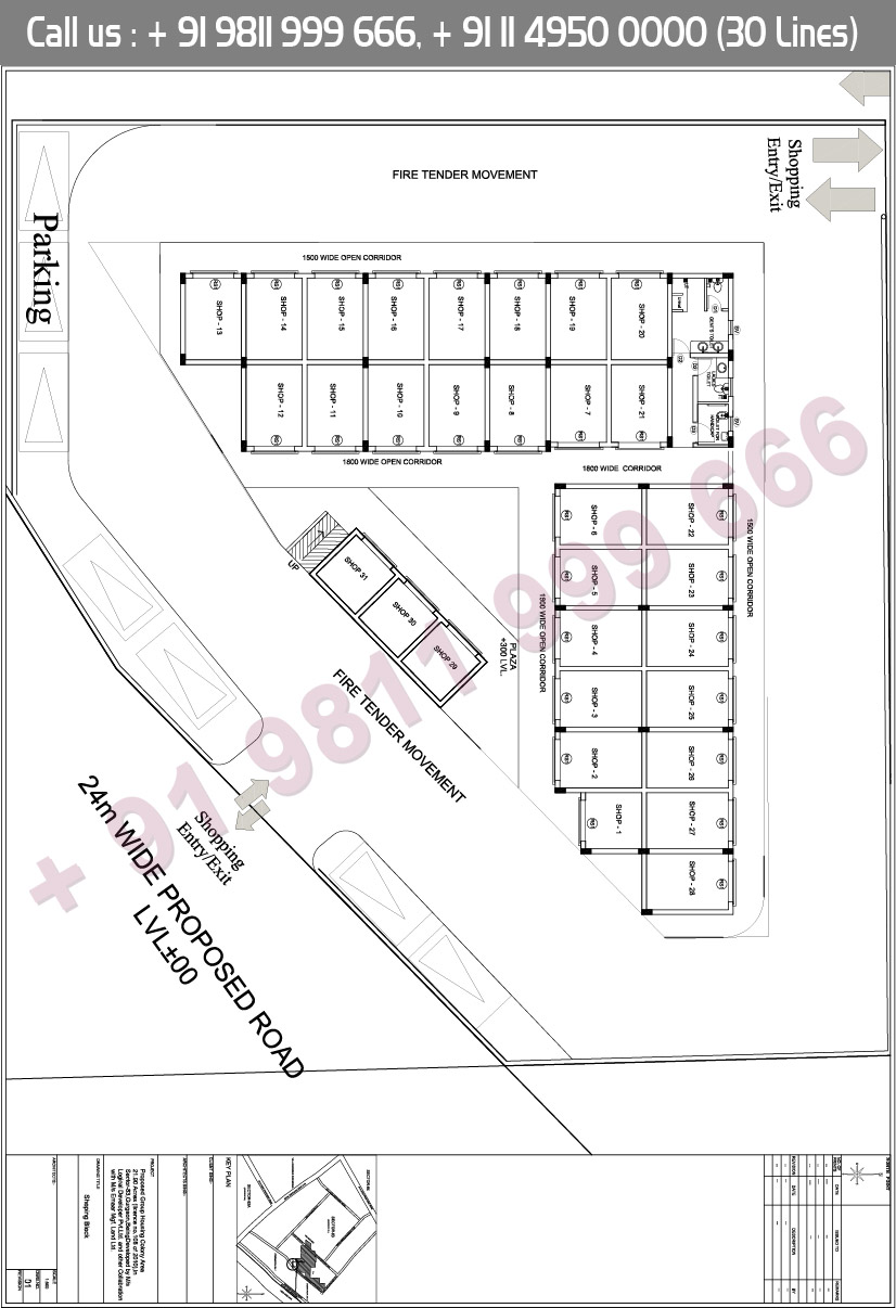 Palm Gardens Shops Floor Plan