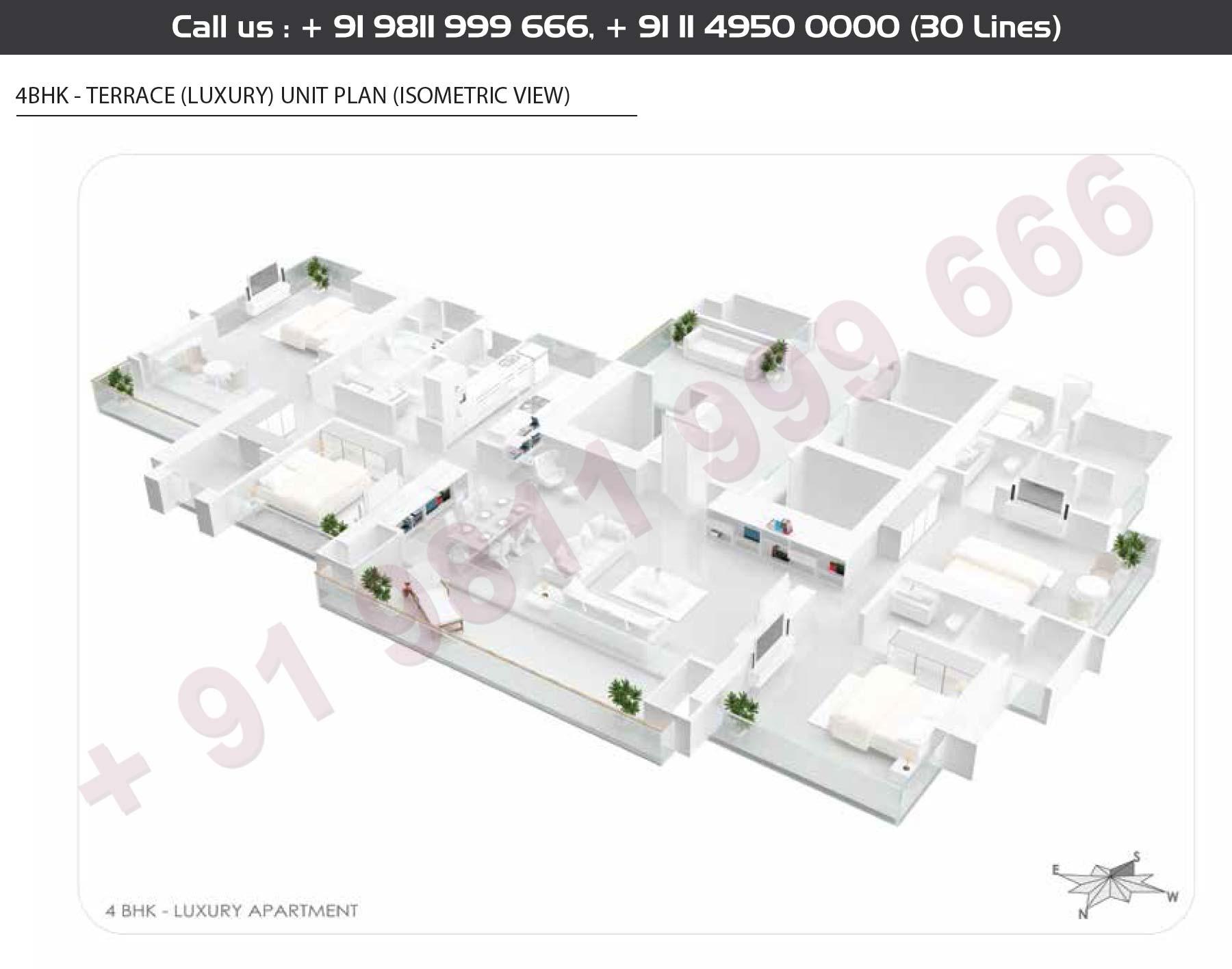 4 BHK + Terraces Luxury