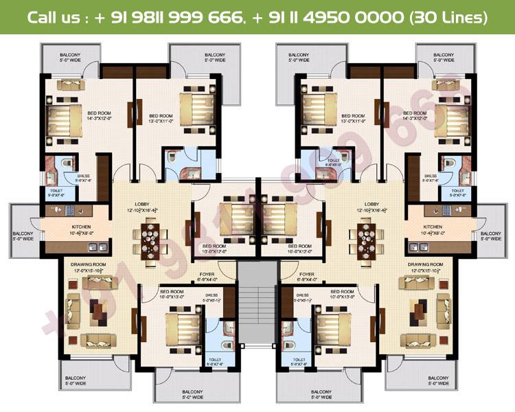 Executive 1 & 2 Simplex Floor Plan