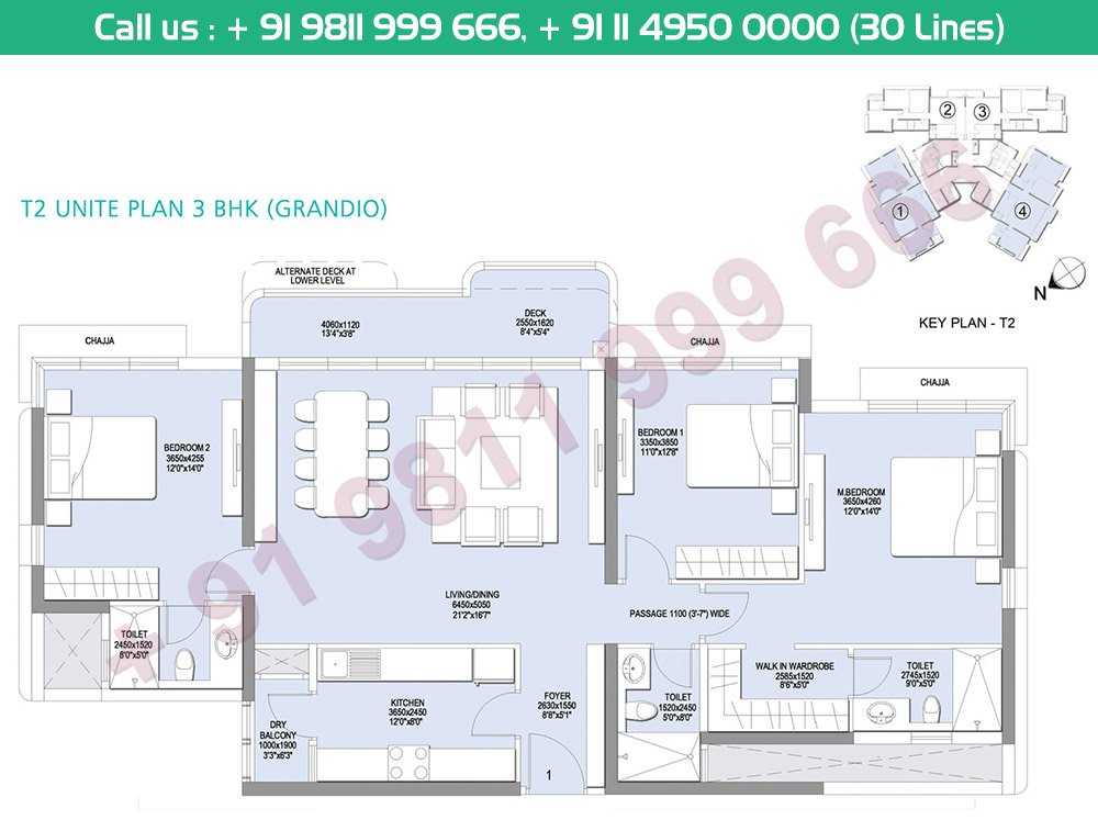 3 BHK Grandio Tower 2