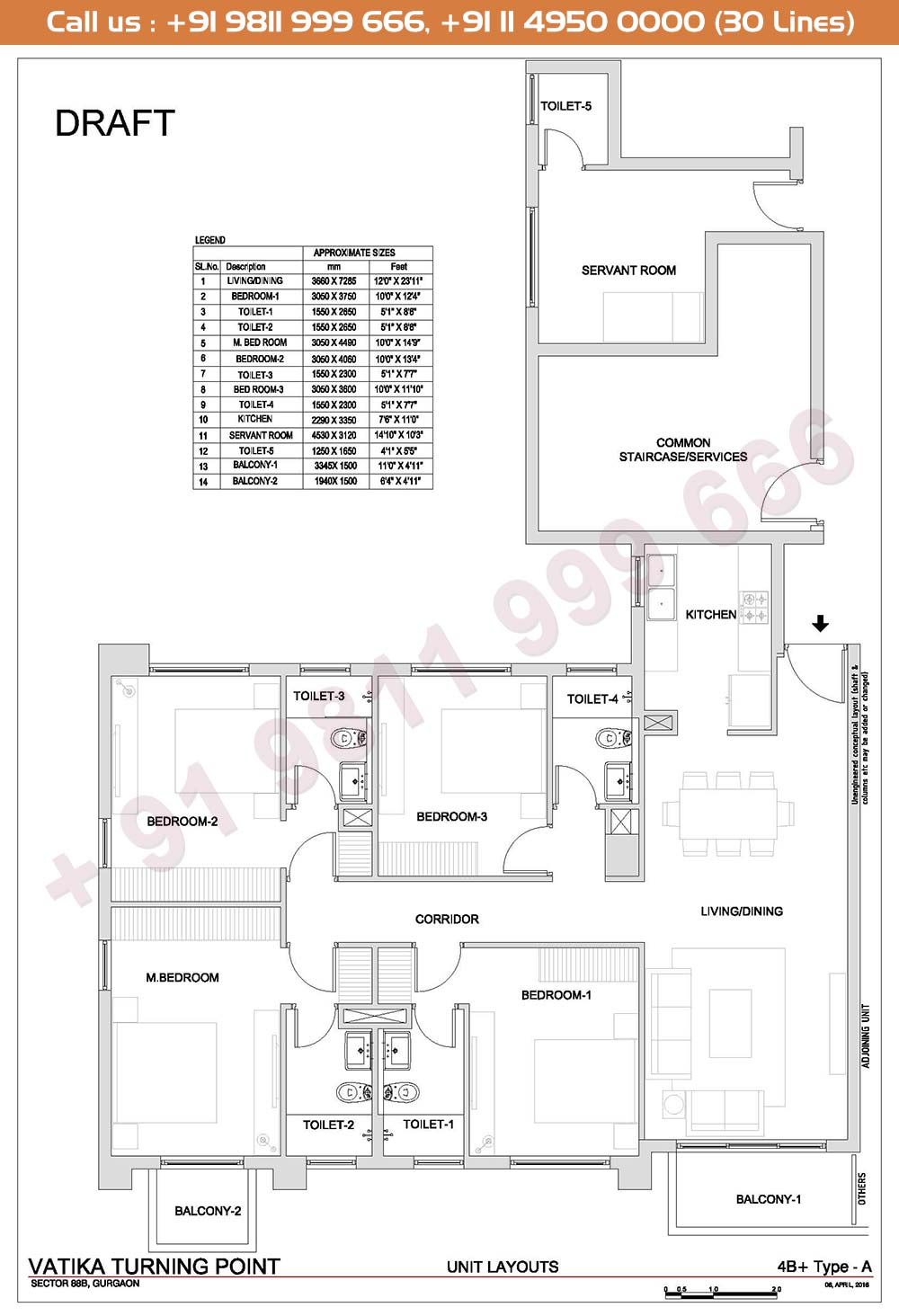 4 BHK + Type A