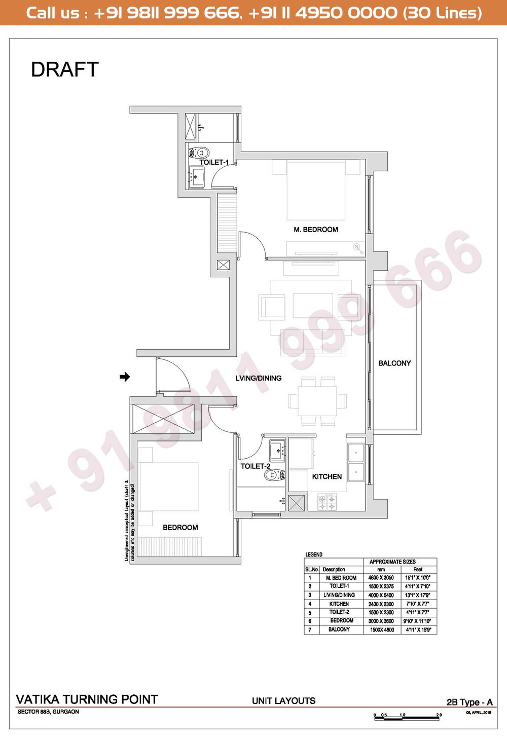 2 BHK, Type A
