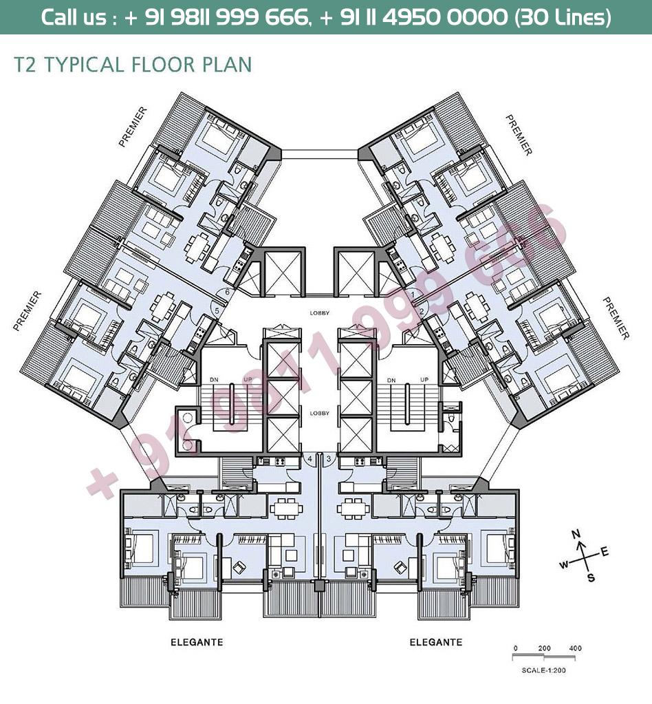 T2 Typical Floor Plan