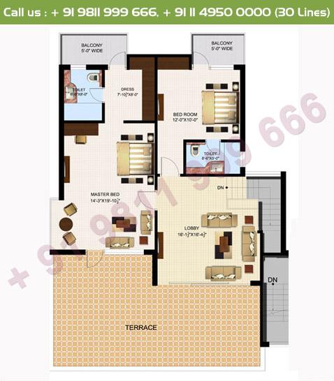 Executive 4 Duplex Upper Floor Plan