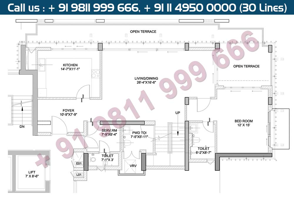 Lower Level Penthouse Plan