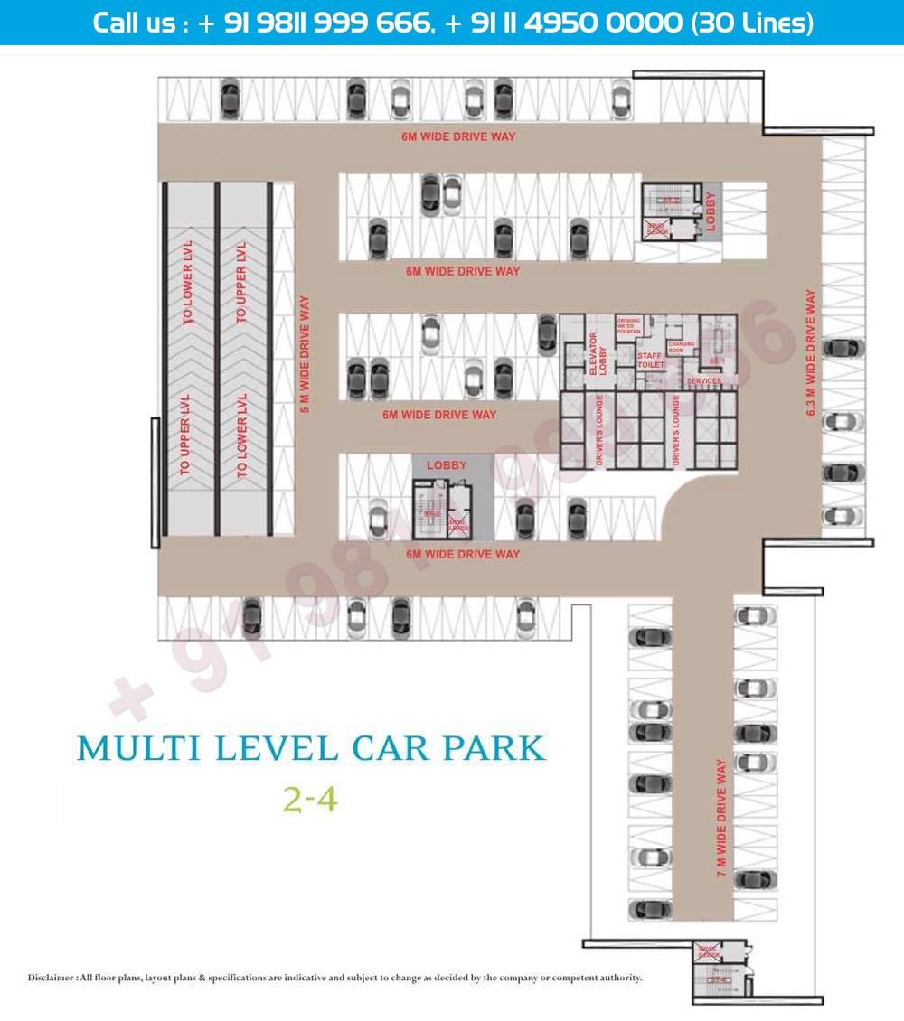 Multi Level Car Parking Level 2 & 4