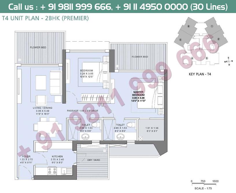 2BHK Premier T4 Unit Plan