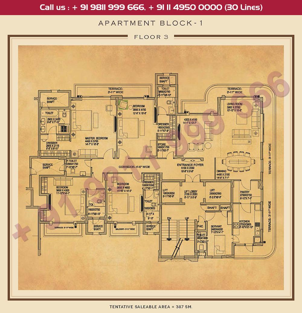 Third Floor Plan : 4166 Sq.Ft.