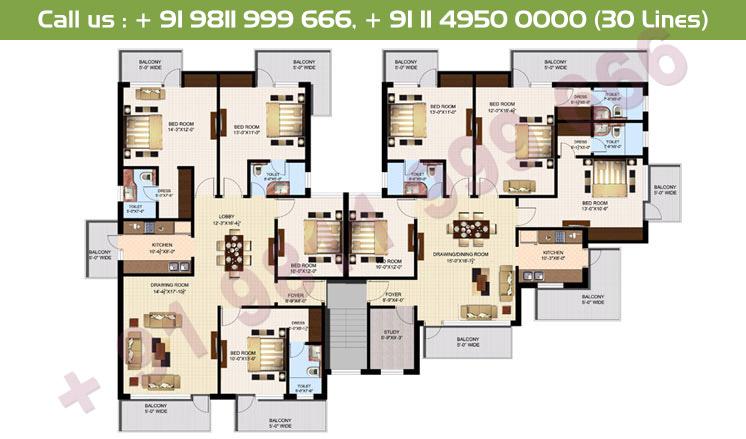 Executive 4 & 5 Simplex Floor Plan