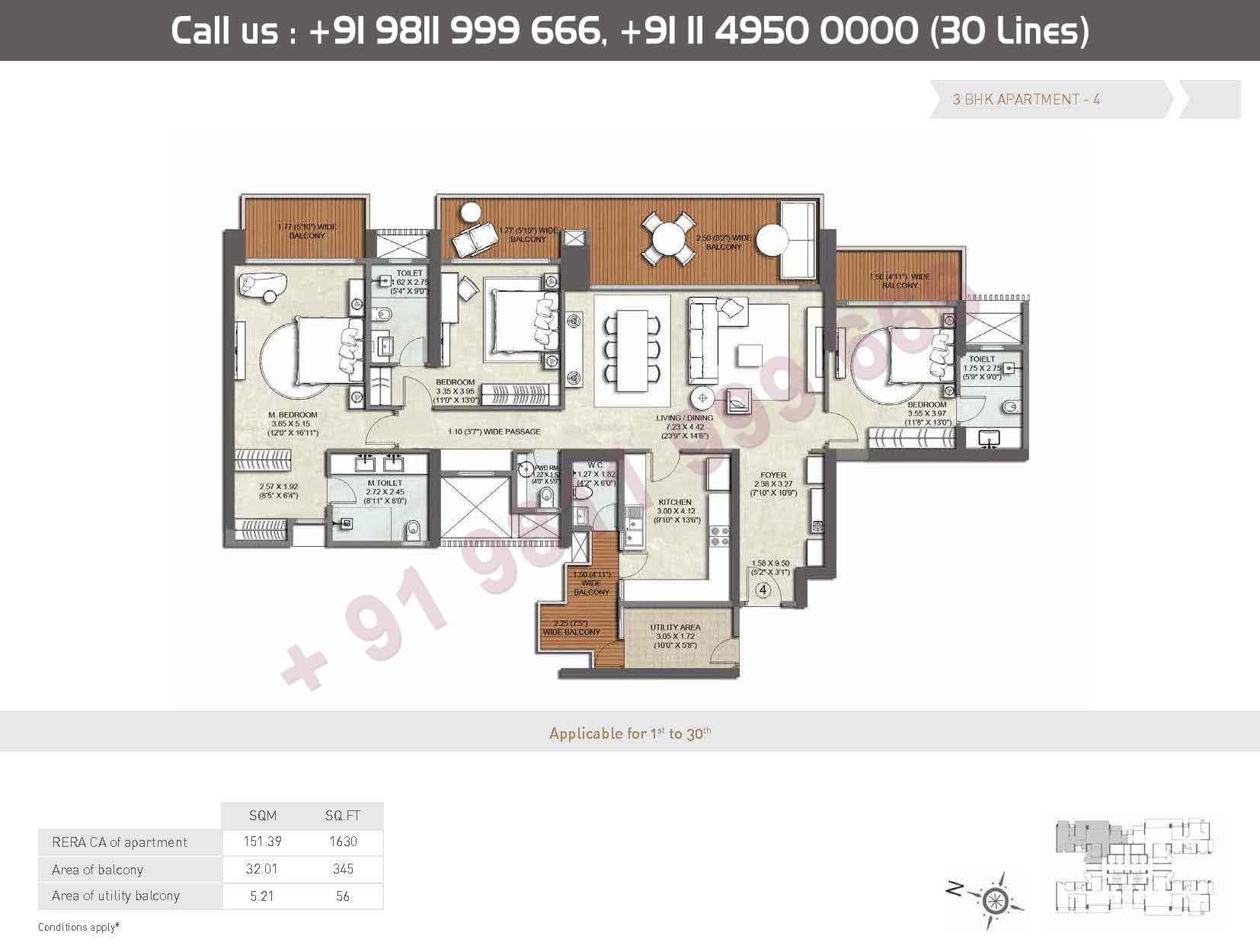 Apartments - 4 : 1630 Sq. Ft.