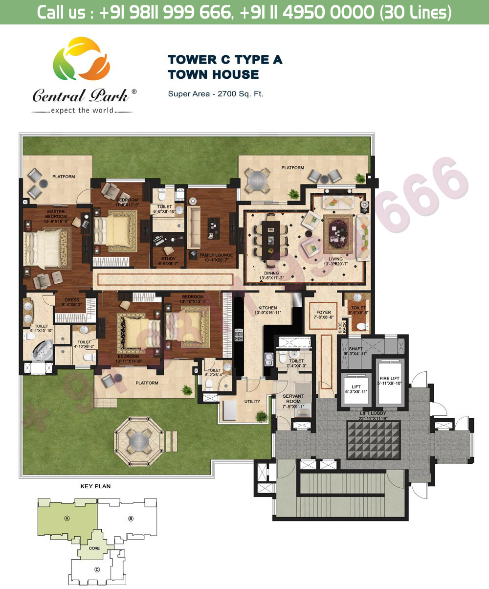 Tower - C, Type - A: 2700 Sq. Ft