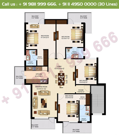 Executive 3 Simplex Floor Plan