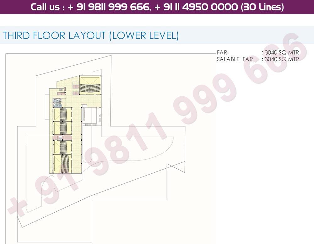 3rd Floor Lower Level Floor Plan