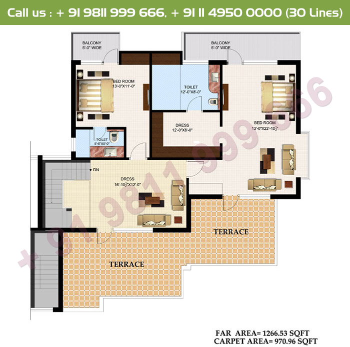 Executive 5 Duplex Upper Floor Plan