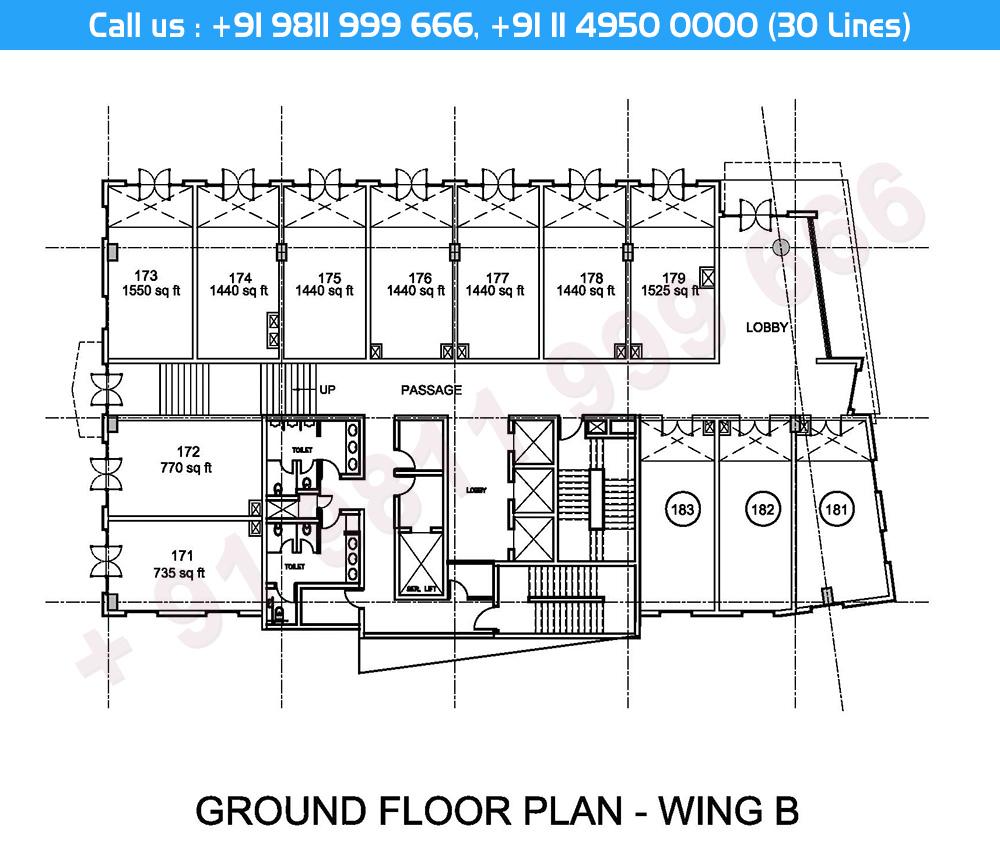 Ground Floor Plan Wing - B