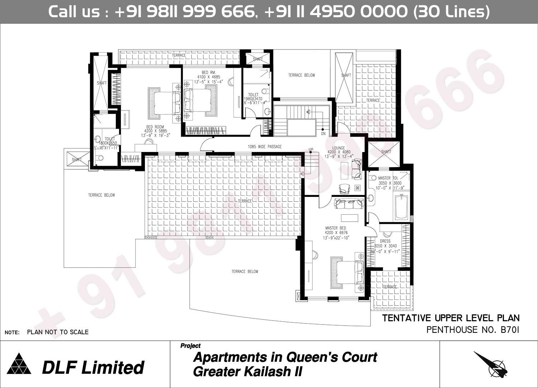 B 107 Upper Level Plan : 8623 Sq.Ft.