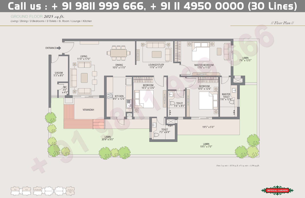 Ground Floor Plan 2 : 2025 Sq.Ft