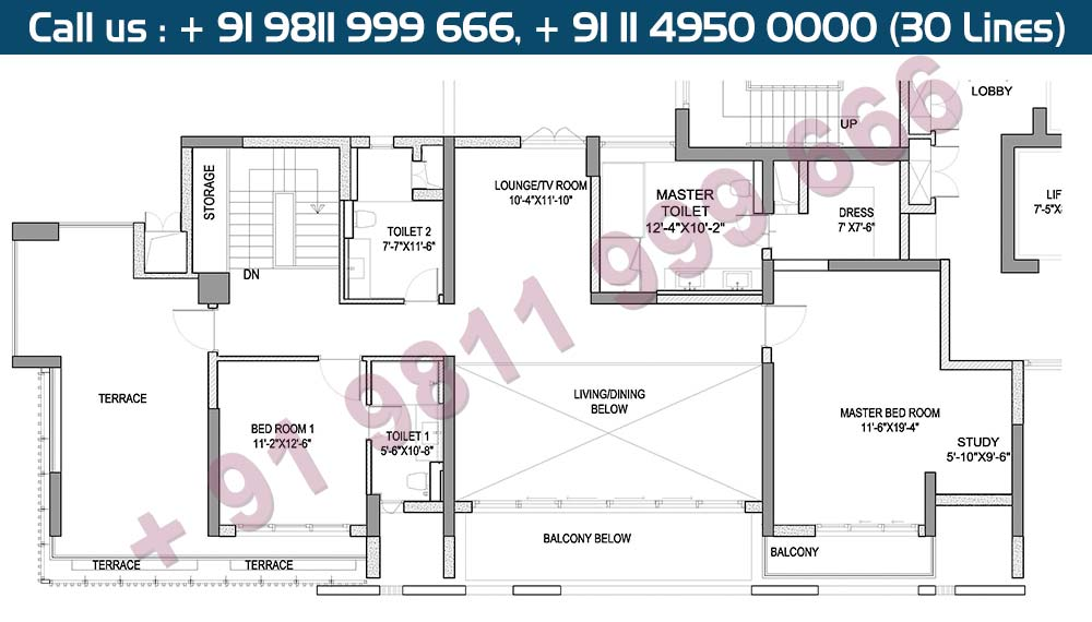 Upper Level Penthouse Plan