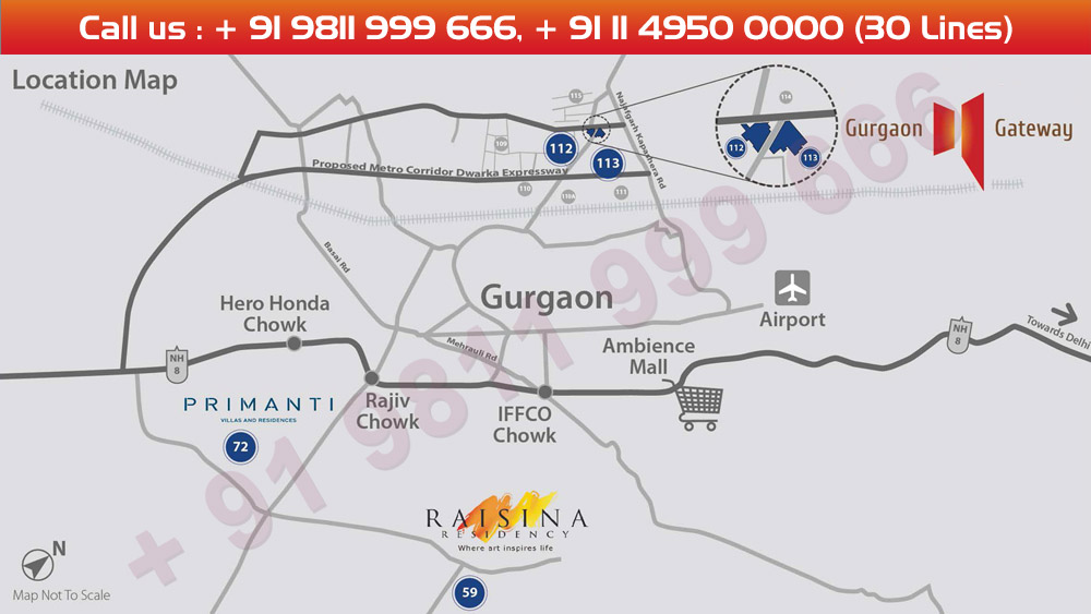 Tata Gurgaon Gateway Location Map