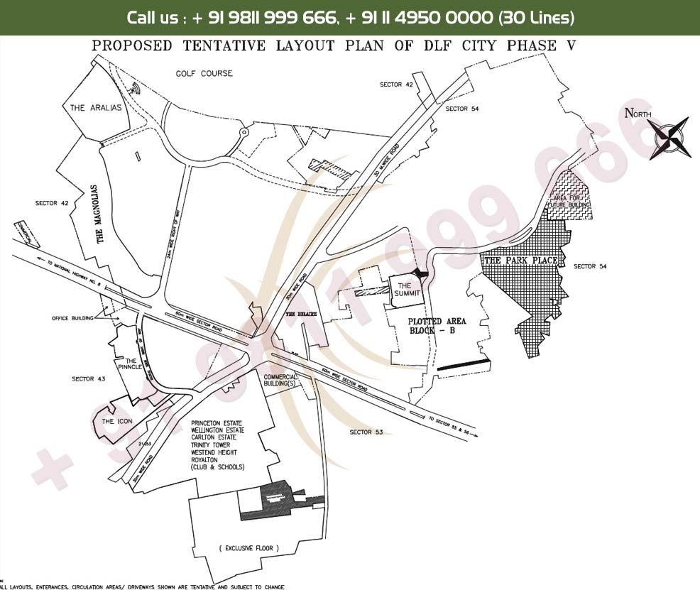 DLF Park Place - Location Map