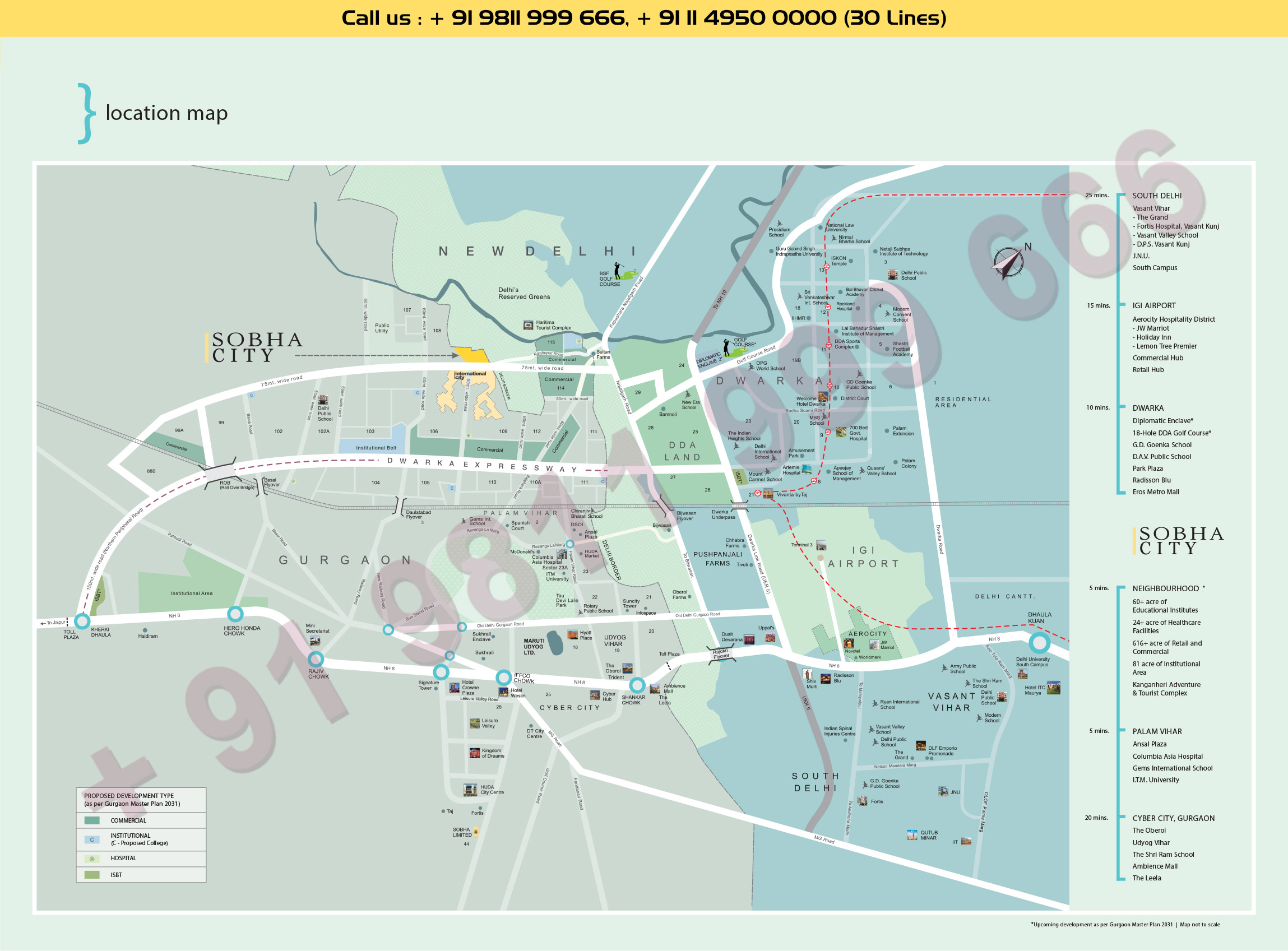 Location Map - Sobha Apartments Gurgaon