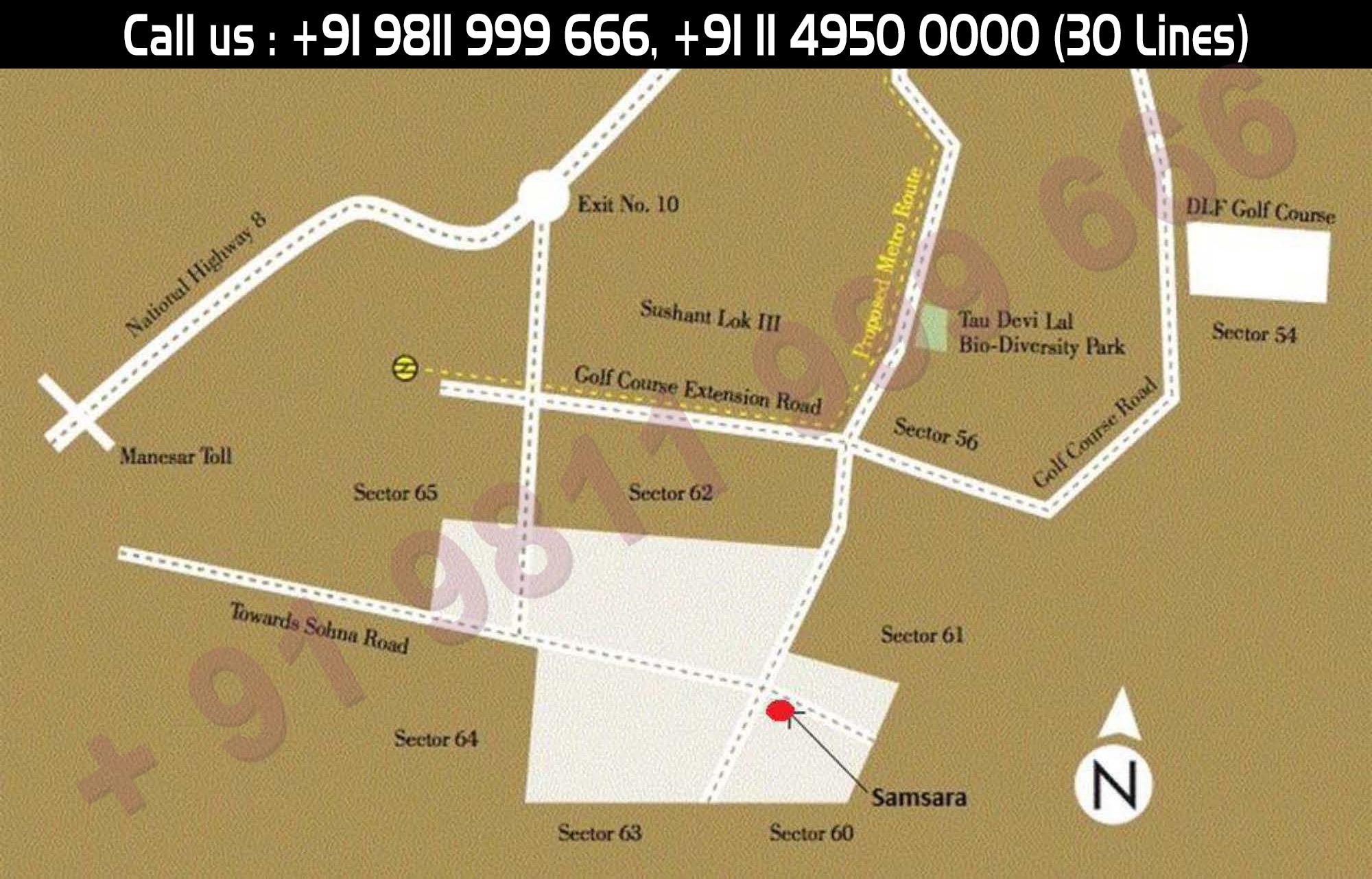 Location Map - Adani Samsara Gurgaon