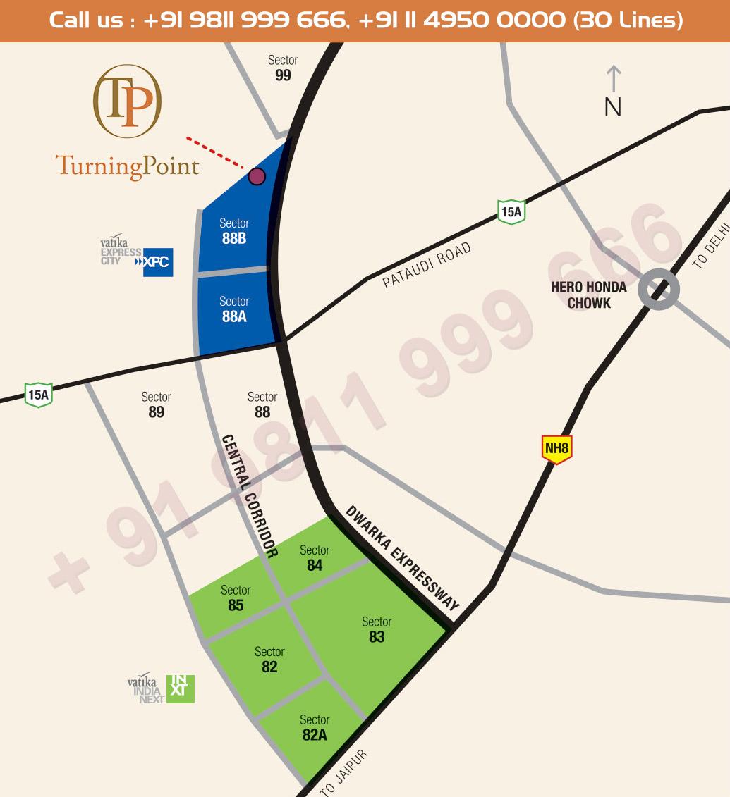 Vatika Turning Point Location Map
